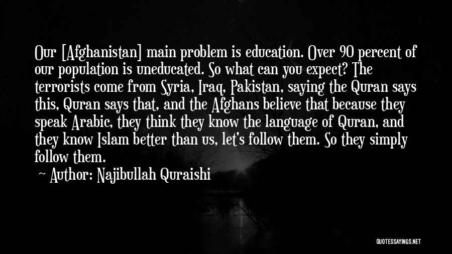 Population Problem Quotes By Najibullah Quraishi