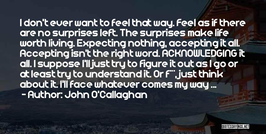 Positive Accepting Quotes By John O'Callaghan