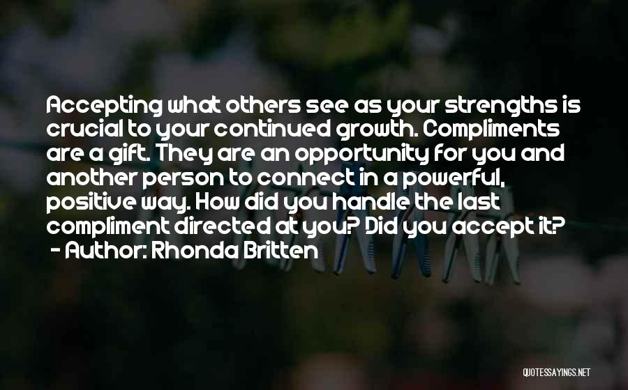 Positive Accepting Quotes By Rhonda Britten