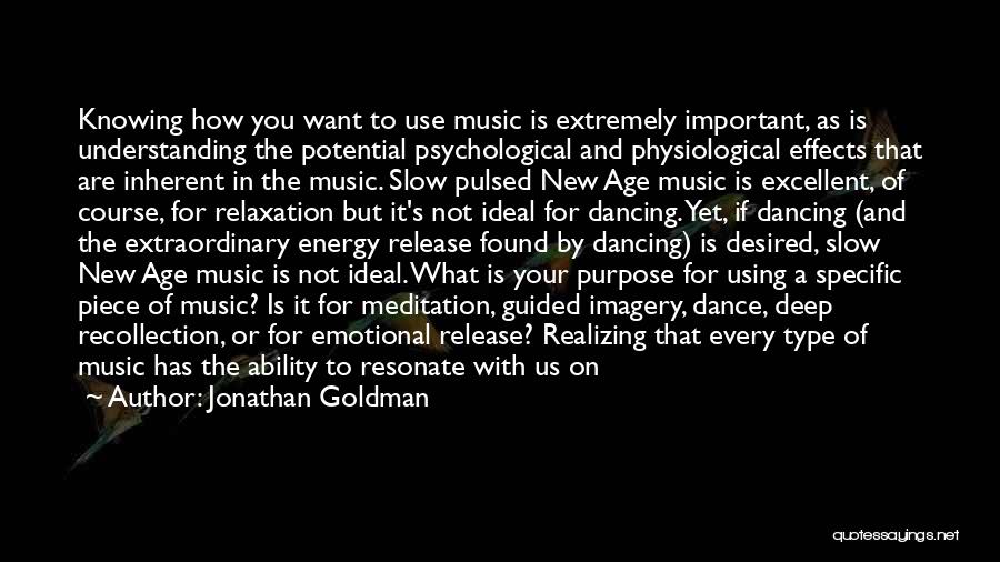 Positive Effects Of Music Quotes By Jonathan Goldman