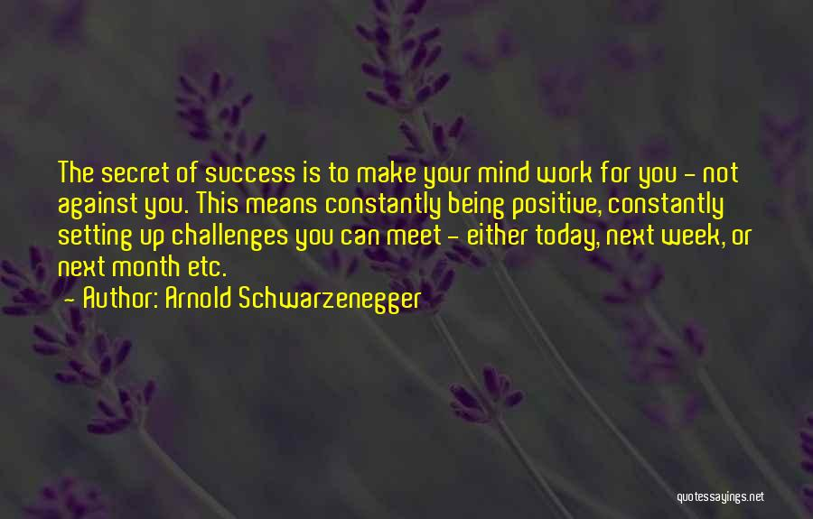 Positive Going To Work Quotes By Arnold Schwarzenegger