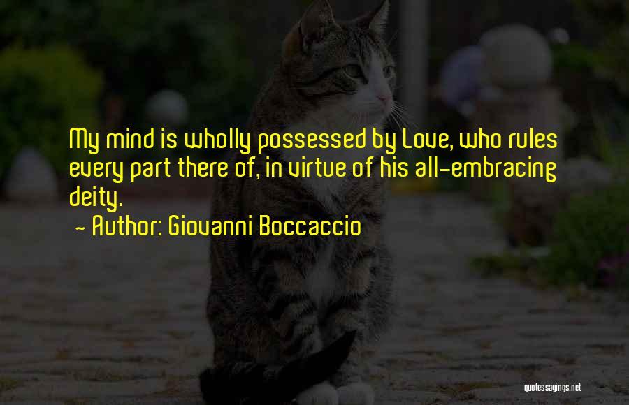 Possessed Love Quotes By Giovanni Boccaccio