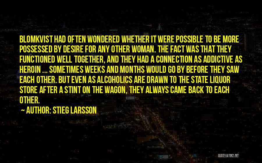 Possessed Love Quotes By Stieg Larsson