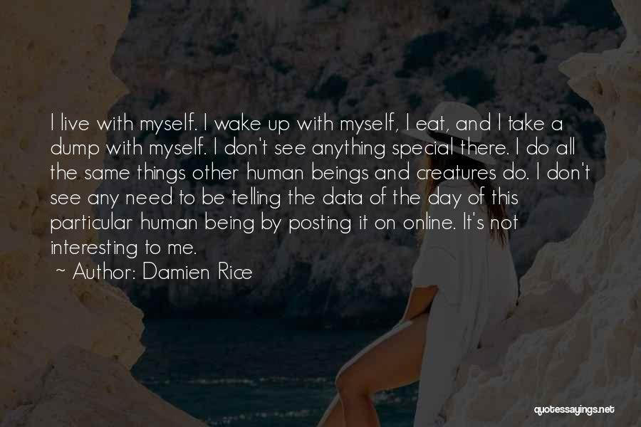 Posting Things Quotes By Damien Rice