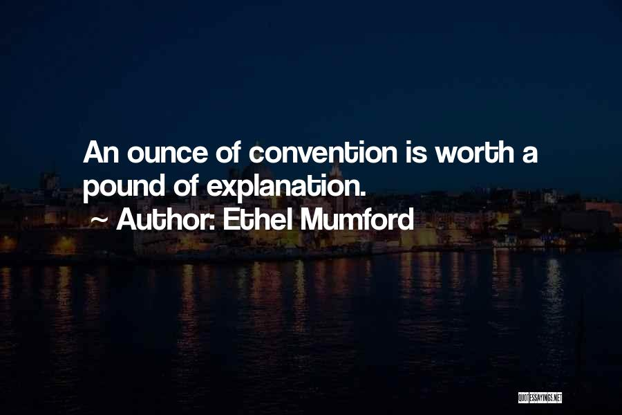 Pounds Quotes By Ethel Mumford