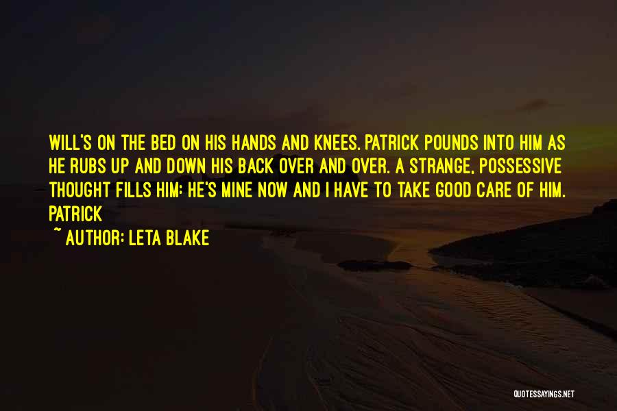 Pounds Quotes By Leta Blake