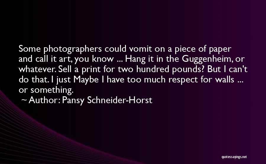 Pounds Quotes By Pansy Schneider-Horst