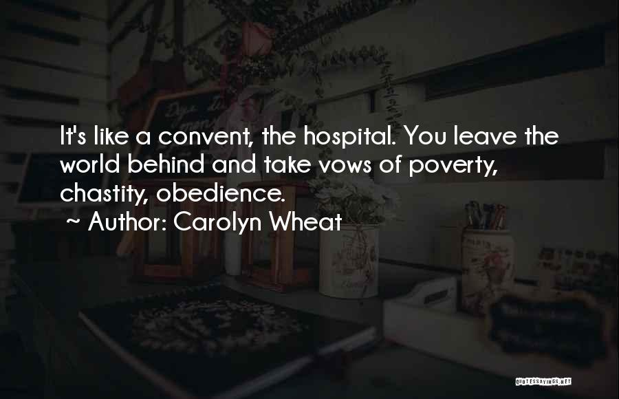 Poverty Quotes By Carolyn Wheat