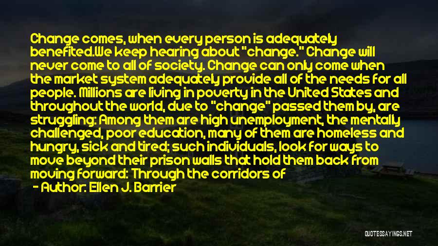 Poverty Quotes By Ellen J. Barrier