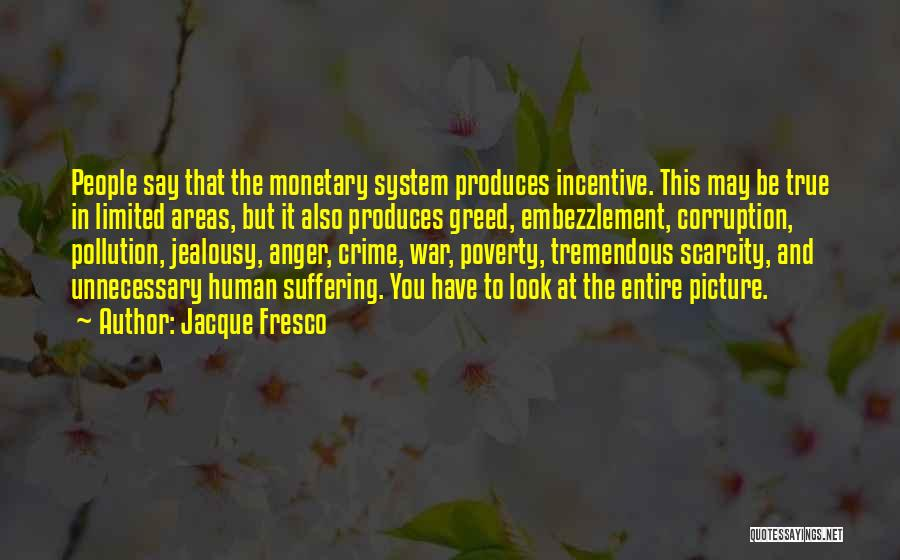 Poverty Quotes By Jacque Fresco