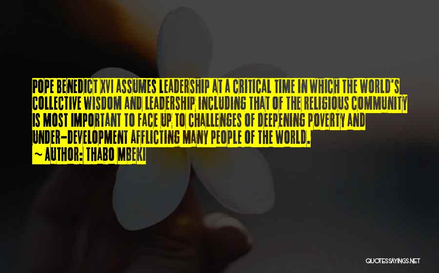 Poverty Quotes By Thabo Mbeki