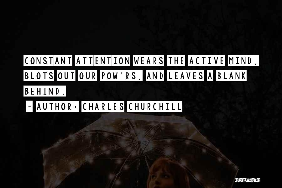 Pow Quotes By Charles Churchill