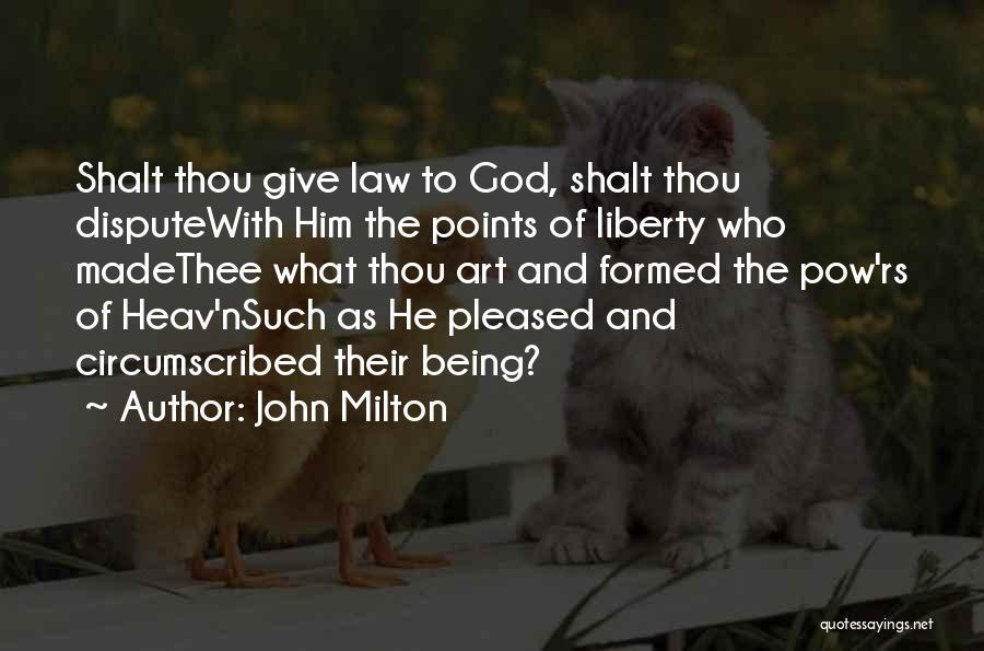 Pow Quotes By John Milton