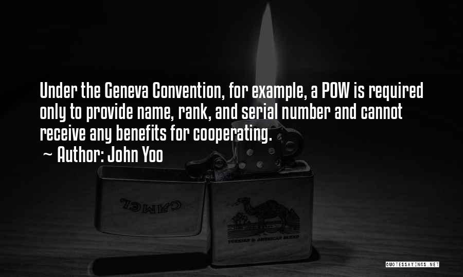 Pow Quotes By John Yoo