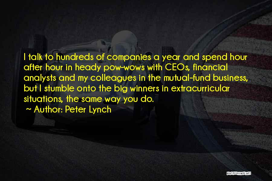 Pow Quotes By Peter Lynch