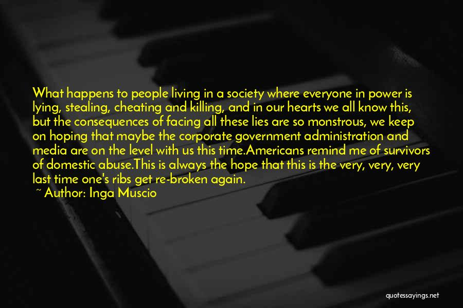 Power And Abuse Quotes By Inga Muscio
