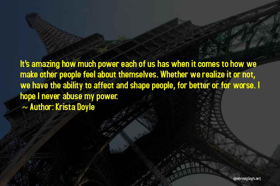 Power And Abuse Quotes By Krista Doyle