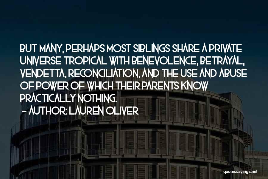 Power And Abuse Quotes By Lauren Oliver