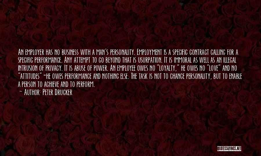 Power And Abuse Quotes By Peter Drucker