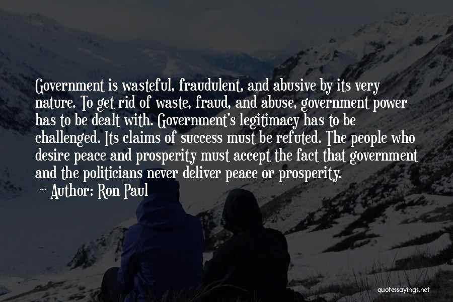 Power And Abuse Quotes By Ron Paul