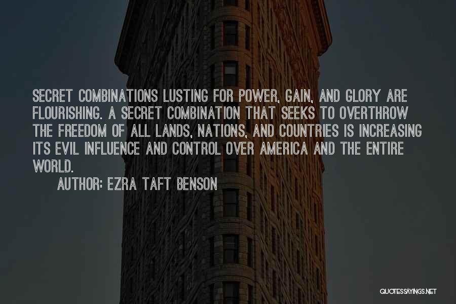 Power And Glory Quotes By Ezra Taft Benson