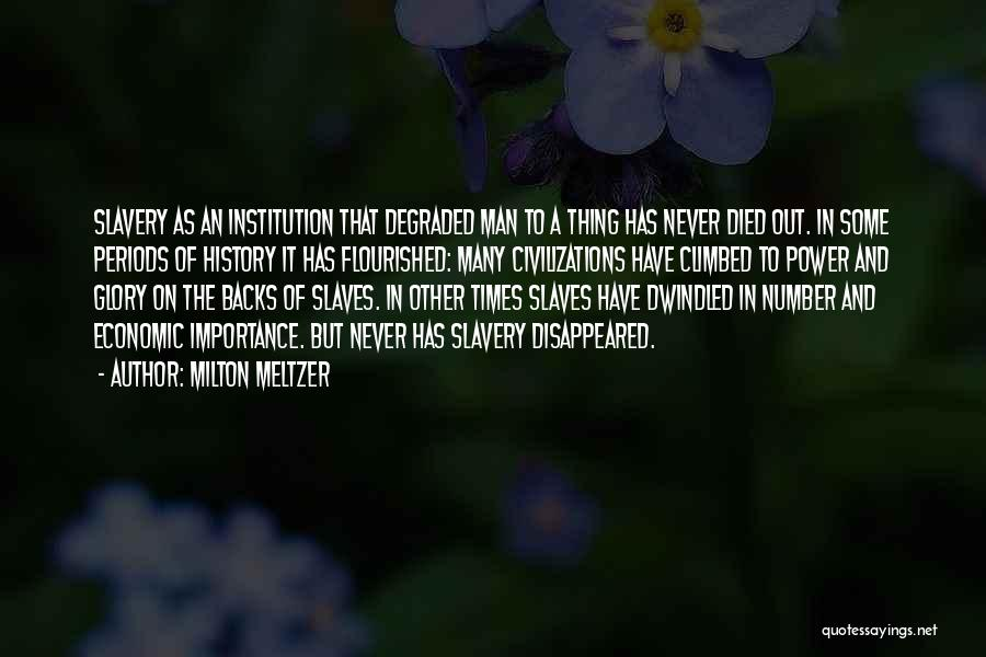 Power And Glory Quotes By Milton Meltzer