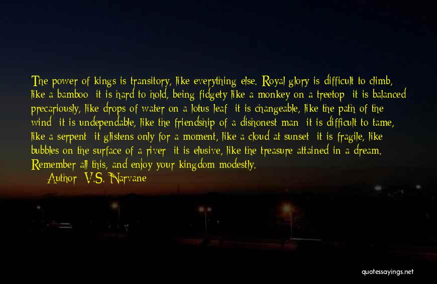 Power And Glory Quotes By V.S. Narvane