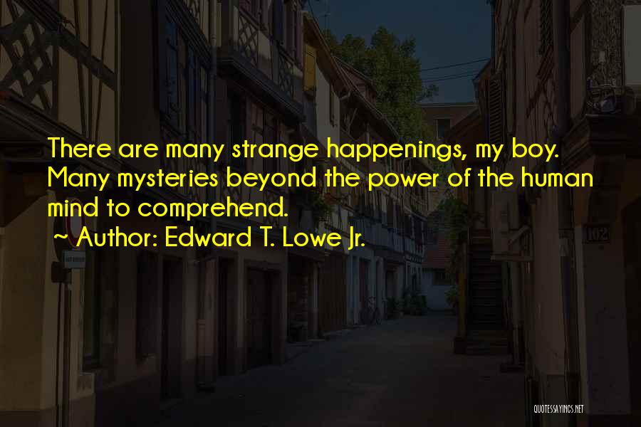 Power Of Human Mind Quotes By Edward T. Lowe Jr.