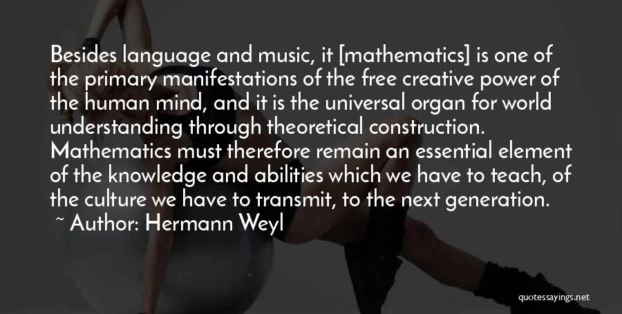 Power Of Human Mind Quotes By Hermann Weyl