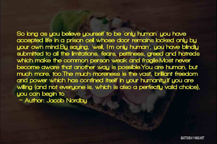 Power Of Human Mind Quotes By Jacob Nordby