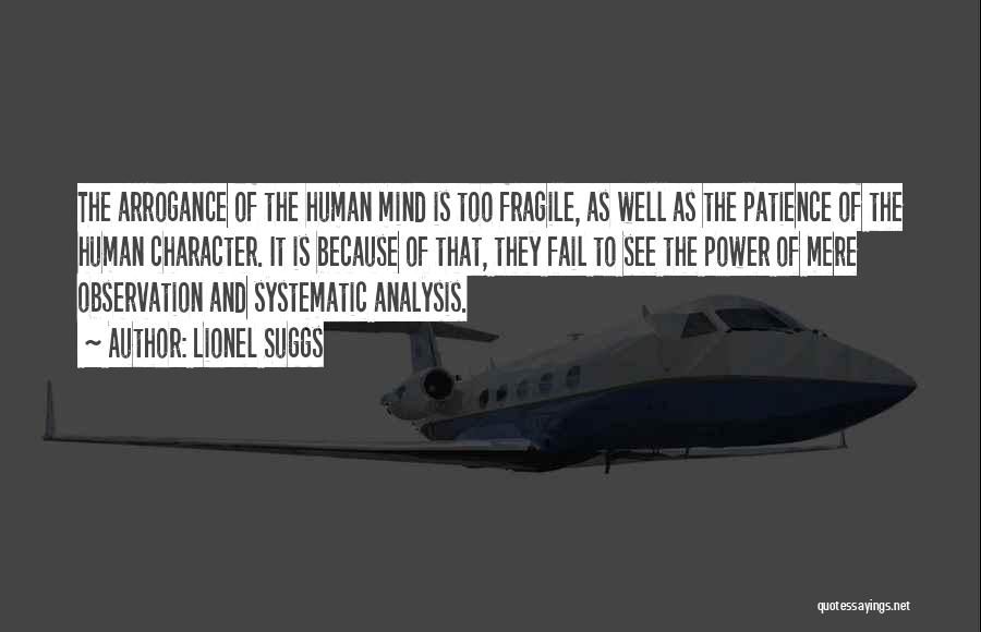Power Of Human Mind Quotes By Lionel Suggs