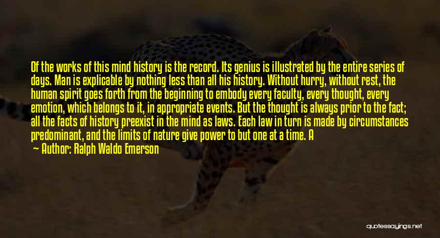 Power Of Human Mind Quotes By Ralph Waldo Emerson