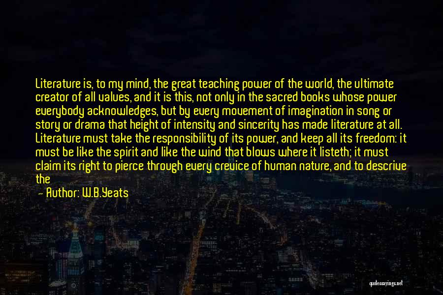 Power Of Human Mind Quotes By W.B.Yeats