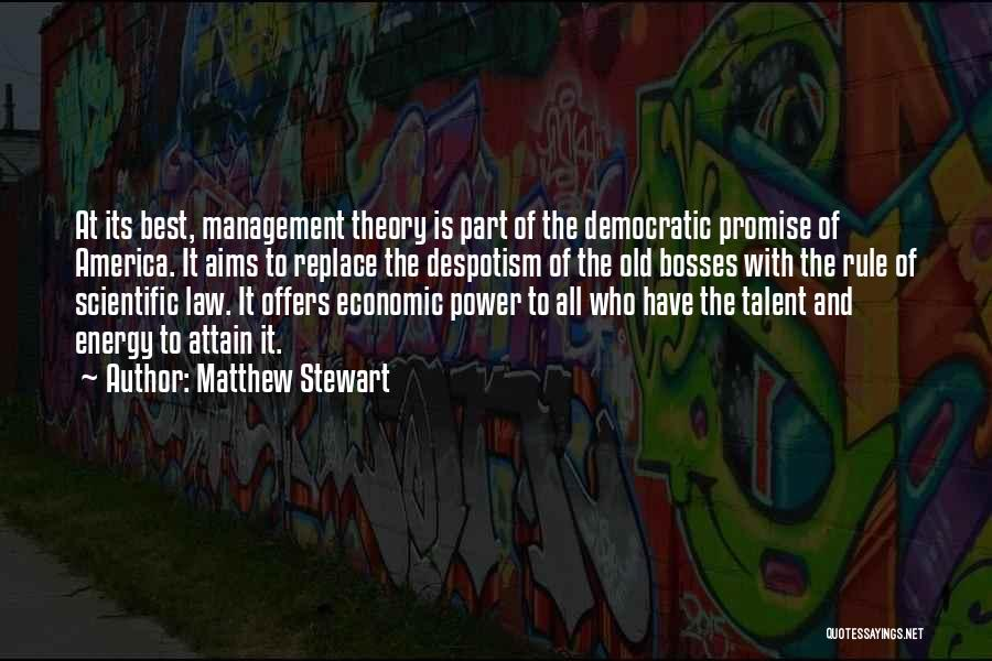 Power Of Law Quotes By Matthew Stewart