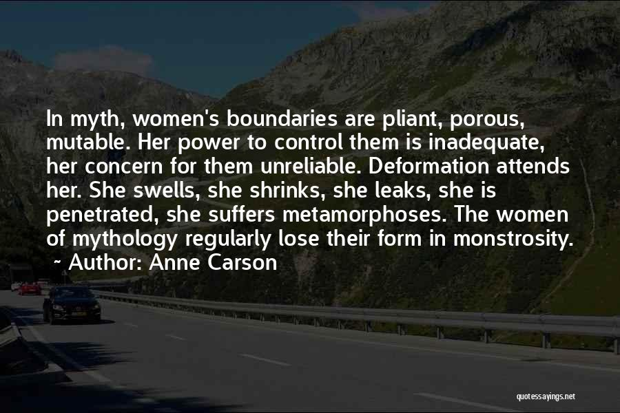 Power Of Myth Quotes By Anne Carson