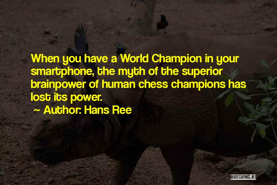 Power Of Myth Quotes By Hans Ree