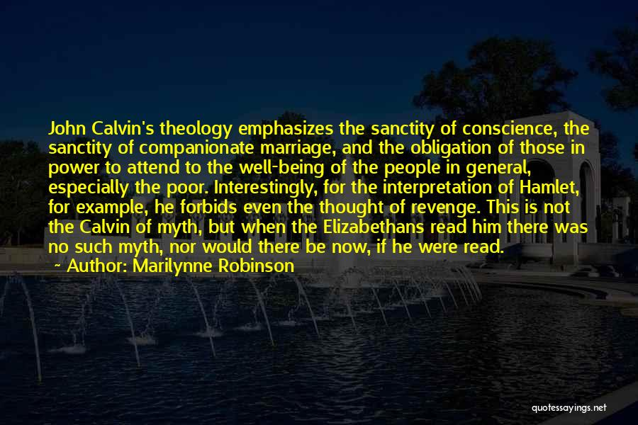 Power Of Myth Quotes By Marilynne Robinson