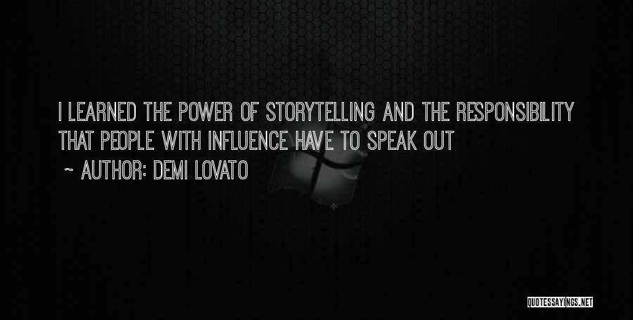 Power Of Storytelling Quotes By Demi Lovato
