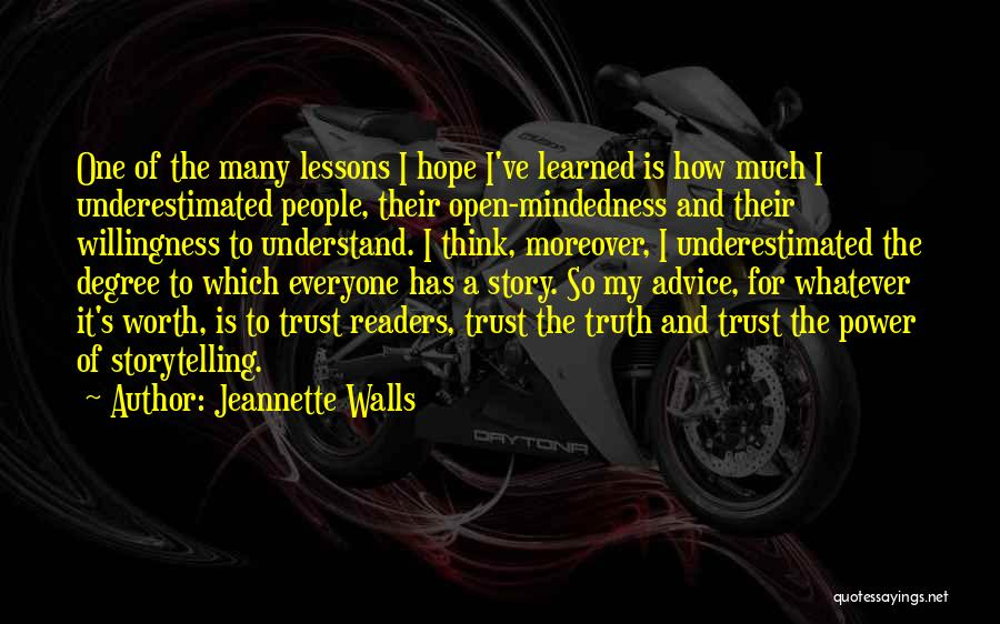 Power Of Storytelling Quotes By Jeannette Walls