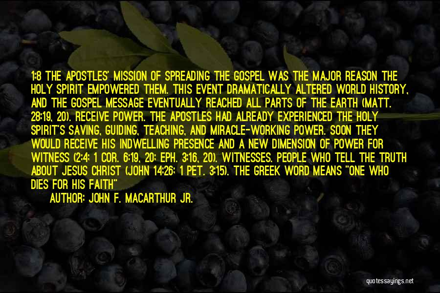 Power Of The Spoken Word Quotes By John F. MacArthur Jr.