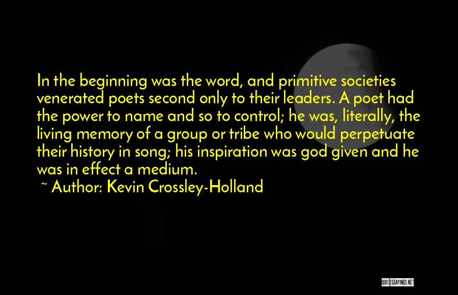 Power Of The Spoken Word Quotes By Kevin Crossley-Holland