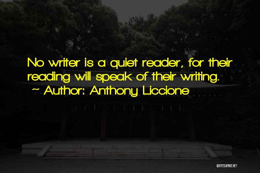 Power Of Writing Quotes By Anthony Liccione