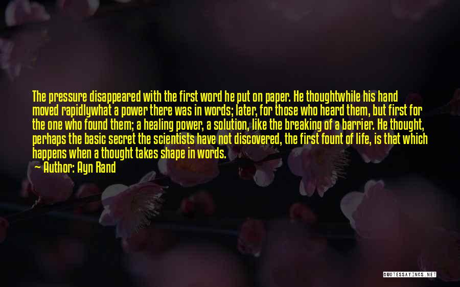 Power Of Writing Quotes By Ayn Rand