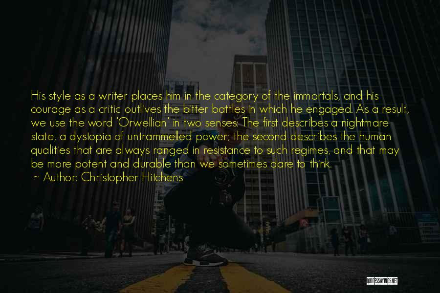 Power Of Writing Quotes By Christopher Hitchens