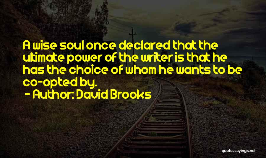 Power Of Writing Quotes By David Brooks