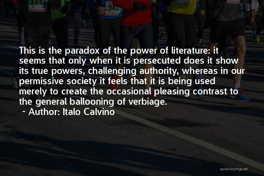 Power Of Writing Quotes By Italo Calvino