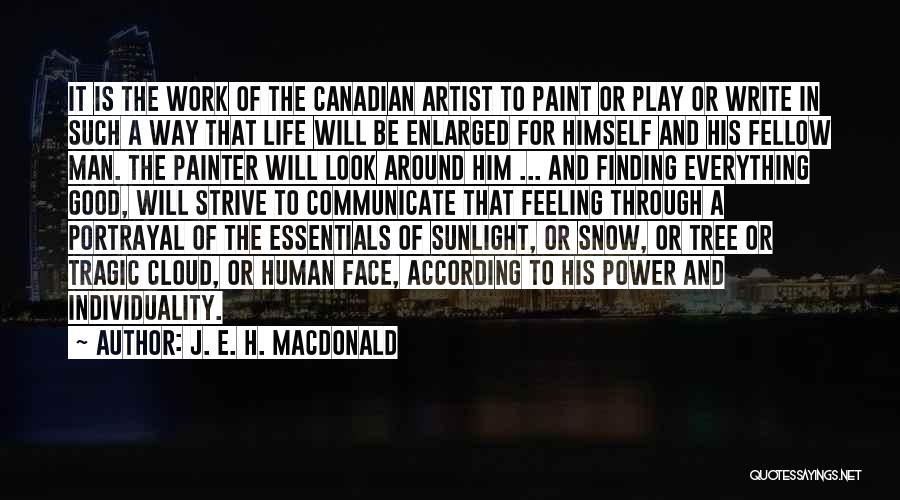 Power Of Writing Quotes By J. E. H. MacDonald