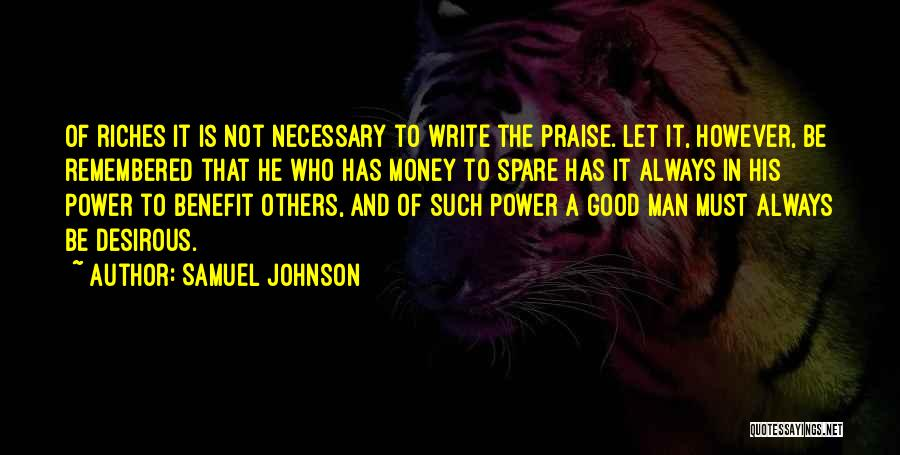 Power Of Writing Quotes By Samuel Johnson