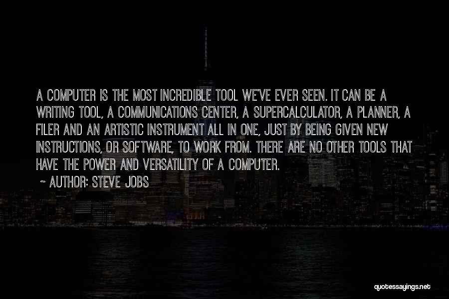 Power Of Writing Quotes By Steve Jobs