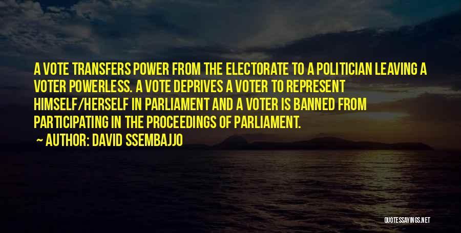 Power Powerless Quotes By David Ssembajjo